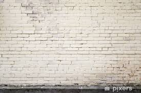 light yellow old brick wall background texture door sticker