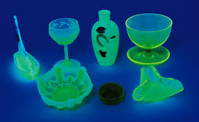 for many glass collectors the only color that matters is vaseline that s the catch all word describing pressed pattern and blown glass in shades ranging