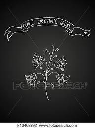 チョーク 花 上に 黒板 クリップアート切り張りイラスト絵画集