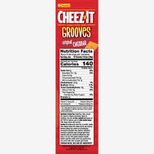 cheez it grooves baked snack ers original 14 oz walmart