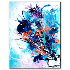 stunning abstract painting of flowers step by step art lesson and tutorial by peter dranitsin you