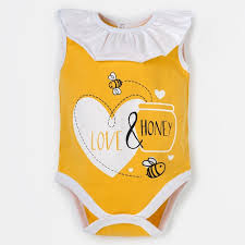 "<b>Боди Крошка</b> Я ""Love & honey"", жёлтый, р. 26, рост 74-80 см ..."