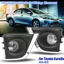 Lamps 2pcs Bumper Driving Fog Lights Lampshade H16 Bulb Switch For Toyota Corolla 2014 2015