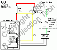 alternator wiring diagram internal regulator solidfonts ford alternator wiring diagram internal regulator circuit