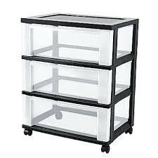 plastic storage drawers. Plastic Storage Drawers 3 Drawer Wide Cart Black 18 Easy And Cheap .