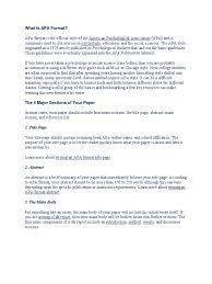 Apa Format Citation Apa Style