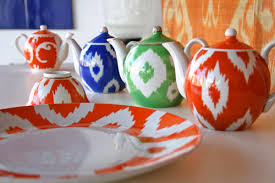 Indigo Ikat Framed Prints  Pottery BarnIkat Home Decor