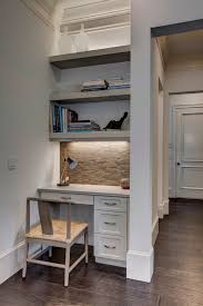 Kitchen office nook ideas home office transitional with desk lamp