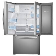 samsung appliances 36 27 8 cu ft french door food showcase refrigerator with exterior ice and water