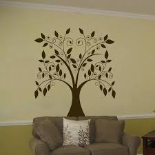 large swirling tree with simple vinyl tree wall decal