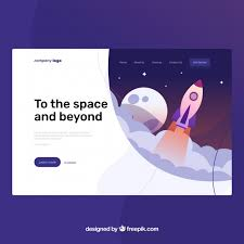 Landing Page Template With Startup Concept Vector Free Download