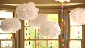 How To Make Fluffy Decoration Balls How to Make Tissue Paper Clouds YouTube 59