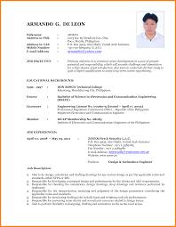 Demo Cv Format Latest Format Resume Resume Cv Example Latest Resume Format