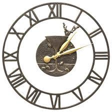 indoor outdoor wall clock martini floating ring clocks slate