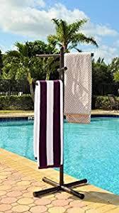 towel stand bronze. Pool \u0026 Spa Towel Rack Bronze Premium Extra Tall Tree Outdoor PVC Stand