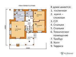 Презентация на тему КУРСОВАЯ РАБОТА По дисциплине  4 В доме имеется 1 гостинная 2 кухня столовая 3 С У 4 Спальня 5 Спальня 6 Техническое помещение 7 Тамбур 8 Холл 9 Терраса