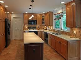 lighting for small kitchen. Simple Galley Kitchen Lighting Idea With White Countertop For Small L