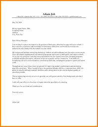 Letters For A Teacher 8 9 Teacher Letter Of Interest Sample Cingene Resume Samples