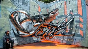 street art illusion odeith gator