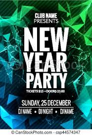 celebration flyer template. New year party design banner event celebration flyer template new
