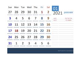 Printable 2021 Excel Calendar Templates Calendarlabs