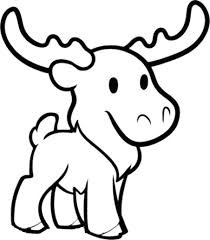 Small Picture Cute Moose Coloring Page Download Print Online Coloring Pages