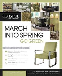 March into Spring\u2026 Go Green | by Coaster Co. of America
