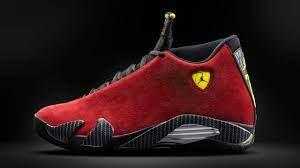 Air Jordan 14 Red Suede Ferrari Inspired Air Jordan Basketball Shoes
