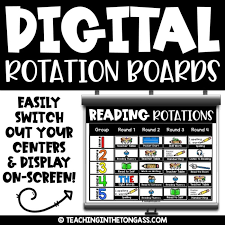Reading Center Rotation Chart Digital Rotation Board Center Rotation Chart