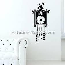 wall clock decals cuckoo clock wall decal clocks giant wall clock decal