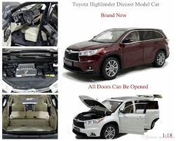2018 Brand New Diecast Modell Car For Toyota Highlander 1 18 Scale ...