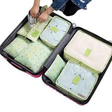 <b>7Pcs Waterproof</b> Travel Storage Bags Clothes <b>Packing</b> Cube