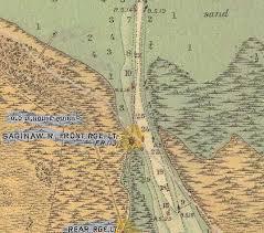 Map 1918 Saginaw River Entry From Saginaw Bay Bay City