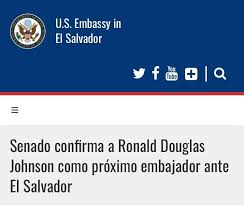 CISPES Solidarity with El Salvador - On June 27th, the US Senate confirmed  Ronald Douglas Johnson as the next Ambassador to El Salvador. Johnson is a  former military colonel who was stationed