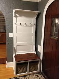 creative old door entryway bench for home decoration ideas with old door entryway bench