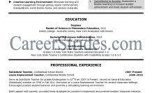 Higher Education Resume Samples Higher Education Resume Samples ...