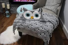 Crochet Owl Blanket Pattern Free New Crochet Owl Hooded Blanket Video Tutorial Included