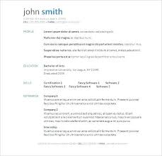 Resume Examples Word Word Resume Example Free Resume Templates In