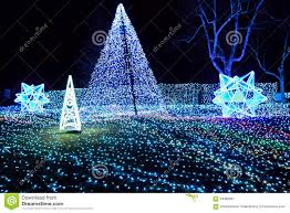 Winter Pictures With Led Lights Winter Illumination With Blue Led Lights Japan Stock Image