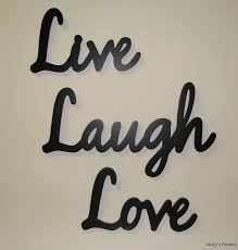 crafty ideas live love laugh wall decor stickers decorations wood decals large print