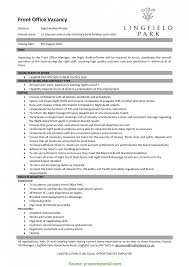 Special Sample Of Front Office Manager Resume Cute Front Office