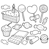 candy coloring page. Modren Page Glorious Candy In Candy Coloring Page D