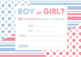 Free Gender Reveal Invitations Gender Reveal Invitations Free Party