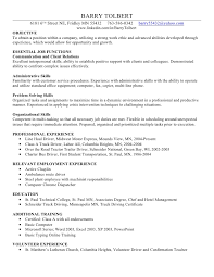 skills and ability resumes barry t skills resume