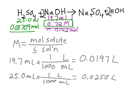Titration Formula Titration Of Sulfuric Acid With Sodium Hydroxide Chemistry Acids