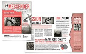 Word Templates For Newsletters Bible Church Newsletter Word Publisher Template Marketing