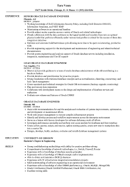Oracle Database Engineer Resume Samples Velvet Jobs