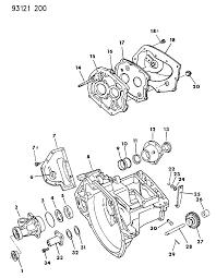 1993 dodge shadow case transaxle related parts diagram 00000brt