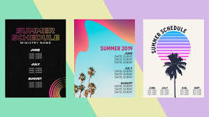 free summer calendar templates for