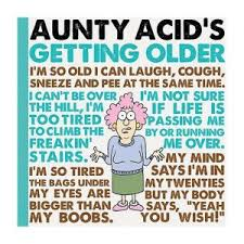 aunty acid guide to getting older book 70th birthday gift ideas